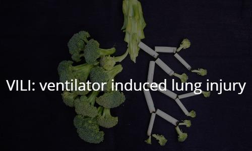 VILI: ventilator induced lung injury