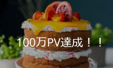 本ホームページの総閲覧数が100万PVになりました!!